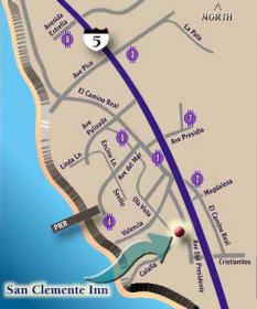 San Clemente Inn - Area Map