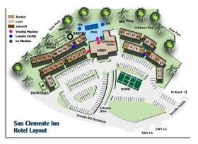 San Clemente Inn - Resort Map
