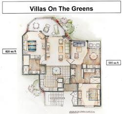 Villas on the Greens at the Welk Resort - Unit Floor Plan