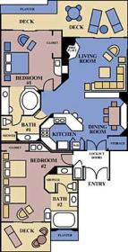 Marriott's Desert Springs Villas - Unit Floor Plan
