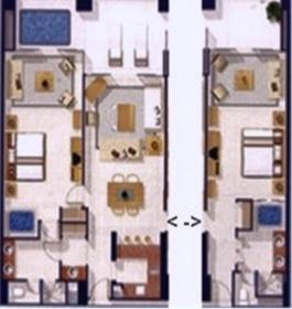 Grand Mayan Acapulco - Unit Floor Plan
