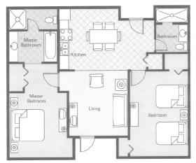 Wyndham Bentley Brook - Unit Floor Plan