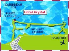 Krystal International Vacation Club Cancun - Map