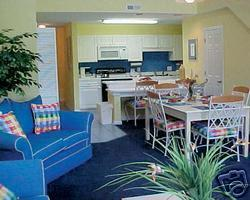 Ocean Palms Resort at Port Royal - Unit Living & Dining Area
