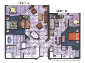 Vacation Village at Parkway - Unit Floor Plan