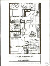 Gatlinburg Town Square - Unit Floor Plan
