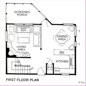 Ridge Top Village and Ridge Top Summit at Shawnee Resort - 1st Floor Plan
