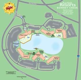 Wyndham Bonnet Creek Resort- Resort Map