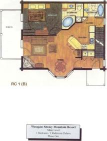 Westgate Smoky Mountain Resort at Gatlinburg - Unit Floor Plan