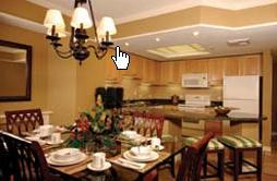 Marriott's Grande Ocean - unit kitchen and dining area