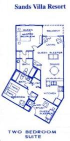 Sands Villa Resort - Floor Plan