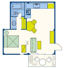 Royal Hawaiian Adventure Club at the Royal Kuhio - Unit Floor Plan