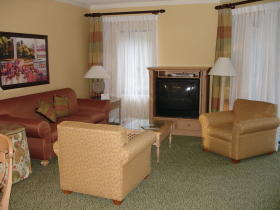 Marriott's Barony Beach Club - Unit Living Area