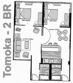 The Americano Beach Resort - Tomoka Floor Plan