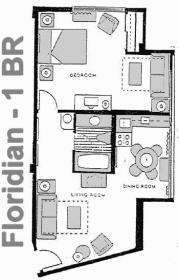 The Americano Beach Resort - Floridian Floor Plan