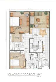 Midtown Village - Classic Two Bedroom Floor Plan