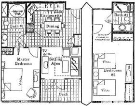 San Luis Bay Inn - Unit Floor Plan