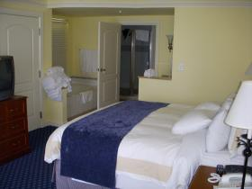 Master Suite includes a king size bed and bathroom with oversized tub and separate shower