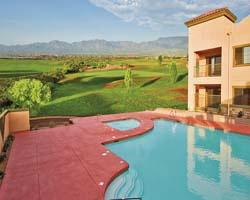 Pool overlooking Golf Course