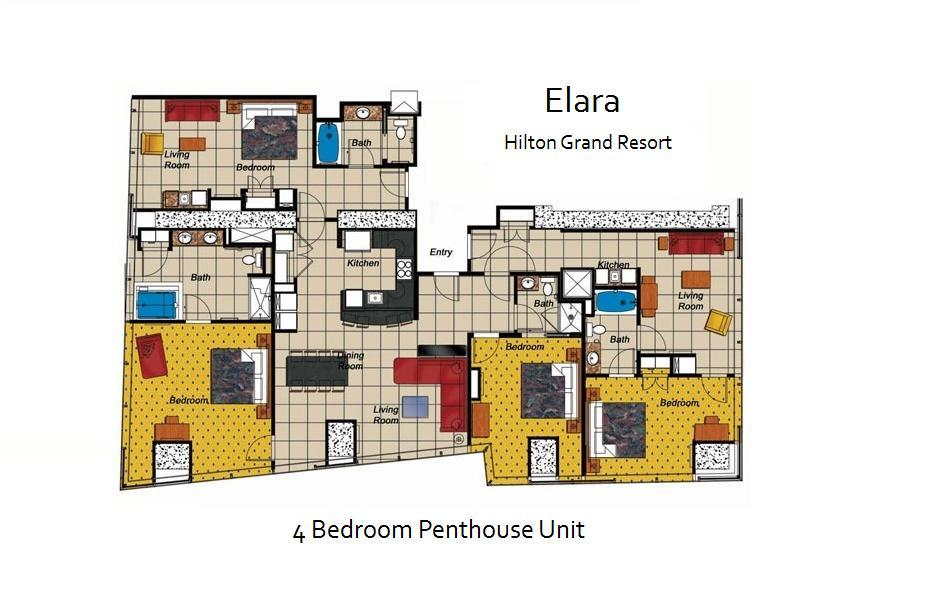 Elara  A Hilton Grand Vacations Club  Las Vegas  Nevada Timeshare Resort    RedWeekElara  A Hilton Grand Vacations Club  Las Vegas  Nevada Timeshare  . Elara Las Vegas 3 Bedroom Suite. Home Design Ideas