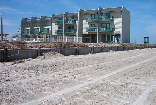 Peregrine Townhomes at San Luis Pass - view from the beach